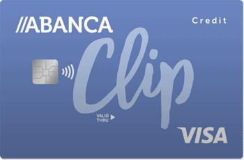 Tarjeta Visa Clip de Abanca