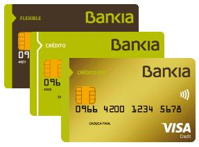 Tarjetas de crédito de Bankia